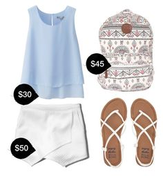 """""""My First Polyvore Outfit"""" by elizaml ❤ liked on Polyvore featuring Uniqlo, Abercrombie & Fitch and Billabong"""