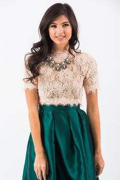 Marianne Pink Lace Crop Top                                                                                                                                                                                 More