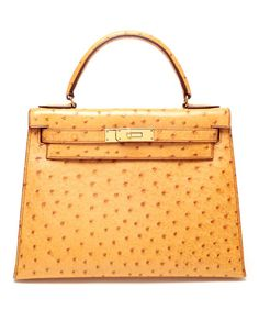 Hermes Parchemin Sellier Kelly 28cm of Ostrich with gold hardware ...