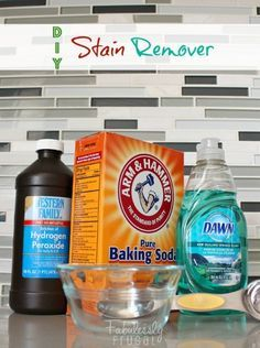 This homemade stain remover is awesome! It works on almost any stain, even old ones. AMAZING!