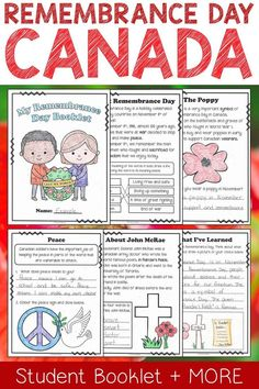 Teach your Gr. 1 or 2 students about Remembrance Day with this fun mini-unit!
