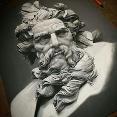 This isn't a sculpture, it's a charcoal artwork in process.... ARTIST → @benhershtattoos ◎ Keep tagging #art_spy , #spy_my_art ◎ Also recommend @arts_seeker @shortsharp_shot ◎