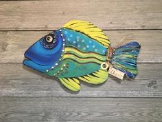 Artful Expressions By Mary & Kenny – Artful Expressions by Mary & Kenny Fish Wall Art, Fish Art, Driftwood Fish, Wooden Fish, Ceramic Fish, Angler Fish, Beach Art, Art Projects, Project Ideas