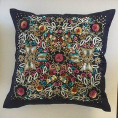 Hand embellished decorative pillow #housewares #pillow @EtsyMktgTool http://etsy.me/2lbwISZ #holidaysale
