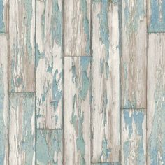 Peeling Planks by Clarke & Clarke (W0050/03) - Brewers Wallpapers - A natural wood paneling in a photo finish effect. Showing in mineral blue colouring - more colours are available. Please request a sample for true colour match. Paste-the-wall product.