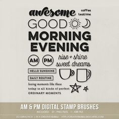 AM & PM Stamp Brushes (Digital) / In a Creative Bubble Shoppe