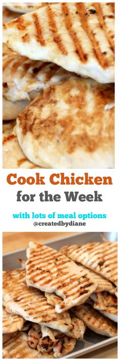 cook chicken for the week with lots of meal options