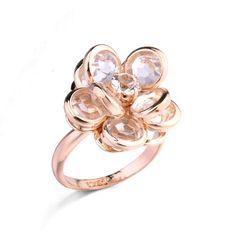 Быстрая продажа цветок kuchi платья кольцо с 18 К золото в свадьба для женщин
