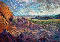 Joshua Tree painting of California desert landscape, by Erin Hanson