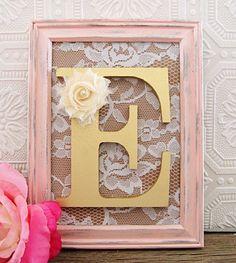 Gold Decorative Nursery Letters Baby Girl by SeaLoveAndSalt