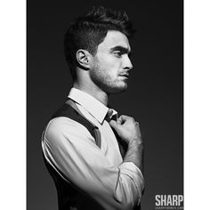 Daniel Radcliffe for Sharp for Men Magazine ❤ liked on Polyvore featuring harry potter, boys, celebrities, men and pictures