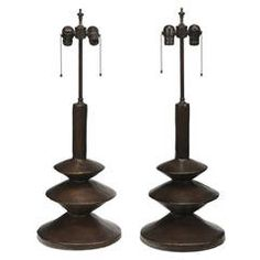 Pair of Giacometti Style Lamps for Sirmos