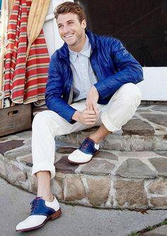 Saddle shoes and matching jacket