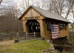 Cilleyville bog bridge - NH, United States.