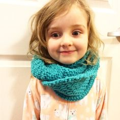 Cowl For Child/Toddler Knit/ Wool Blend/ Chunky by knitsbygramma