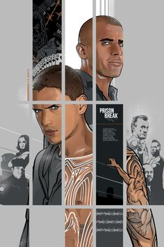Prison Break Michael Scofield et Lincoln Burrows en dessin!