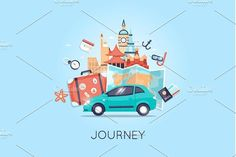 Tourism and vacation theme. by Podis on @creativemarket