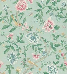 Sanderson Sanderson wallpaper Porcelain Garden Rose/Duck Egg