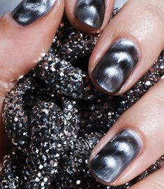 Magnetic nail polish!! love it!! I got some at sephora and its better that that shatter stuff!