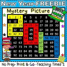 *FREEBIE* New Years 2017 Hundreds Chart Hidden Picture