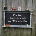 Large Chalkboard Shelf