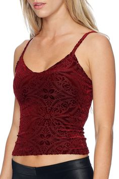 Burned Velvet Wine Buffy Cami - LIMITED