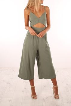 Would You Ever Jumpsuit Green