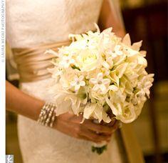 Real Weddings - Formal Wedding in Atlanta, GA - White Wedding Bouquet