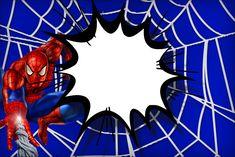 Convite, Moldura e Cartão  Homem Aranha: