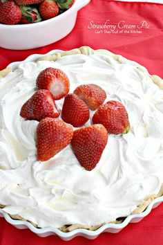 Strawberry Cream Pie | Can't Stay Out of the Kitchen