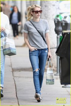 Emma Roberts Wears Sweatpants When She's Not Playing Chanel