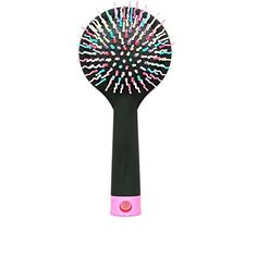 Antistatic Rainbow Portable Hair Brush With Back Mirror for Wet Or Dry Hair Effortlessly Black ** To view further for this item, visit the image link.
