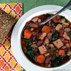 Slow Cooker 15 Bean Soup -- with or without ham.  Sure is healthy.  Step by step instructions with pictures included.