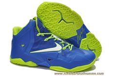 sports shoes 1c25b c0464 Nike Lebron XI (11) Lebron James Chaussures 2013 Bleu Volt Kd Shoes, Kobe