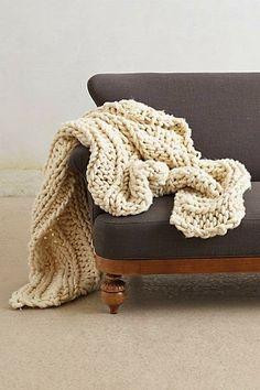 Lovely snuggly woollen throw on grey linen sofa Chunky Knit Throw 6ba98a1022b2