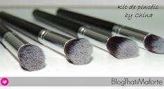 Blog Thati Maforte Tudo para Maquiagem: Kit de Pincéis - by China