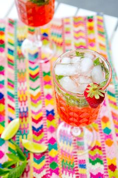 STRAWBERRY MOJITOS via A House in the Hills