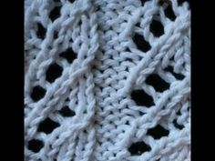 Watch video to learn how to knit the Honeycomb Trellis stitch. + Detailed written instructions: http://www.knittingstitchpatterns.com/2014/09/honeycomb-trell...