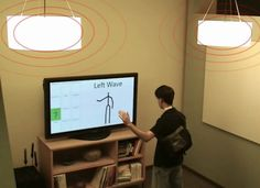 Microsoft is developing two new technologies that detect human interaction without physical contact with a keyboard or button. The company's Humantenna and Soundwave technologies could eventually allow people to control lighting, appliances, and computers using bodily gestures.