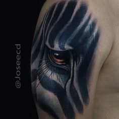 Zebra tattoo by Jose Contreras #Tattoo #NoRegrets #Zebra
