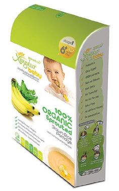 Amazon.com : Organic Sprouted Brown Rice Porridge with Banana and Spinach - Enjoy Organic Baby Food Stage 1 (Age 6+ Month) 120g (20g X 6 Sack) : Baby Food Cereal : Grocery & Gourmet Food