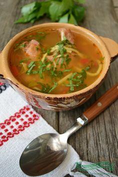 ciorba moldoveneasca de gaina Supe, Thai Red Curry, Roots, Ethnic Recipes