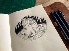 Misadventures of Ordinary Cats on Behance Cat Drawing, Triangle, Behance, Cats, Drawings, Gatos, Sketches, Cat, Drawing