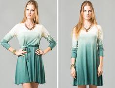 vestido de malha curto em degradê