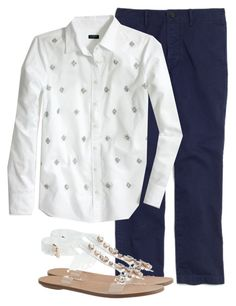 """OOTD 9/4/15"" by candece-myloveaffair ❤ liked on Polyvore featuring Madewell and J.Crew"