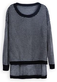 hollow asymmetrical sweater