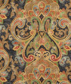 Ralph Lauren Dovima Linen Paisley Onyx Fabric