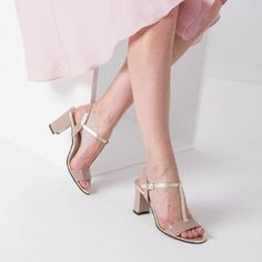 Sandale bej cu auriu din piele naturala Alys