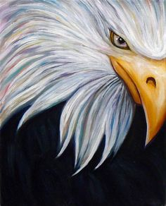 """Eagle"" is an oil painting on canvas. Prints are available in varying sizes."