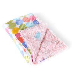 Pink on Pastel Dot with White Background - Large Baby Blanket - Our AllyZabba blankets are made of a special raised plush fabric and a polyester satin backing that feels like silk against your skin! Babies love the soft and silky feel! Parents even say that their babies and children sleep better next to something that feels so silky and cuddly! Made in the USA! http://www.weddingsarefun.com/pink-on-pastel-dot-with-white-background-large-baby-blanket.html